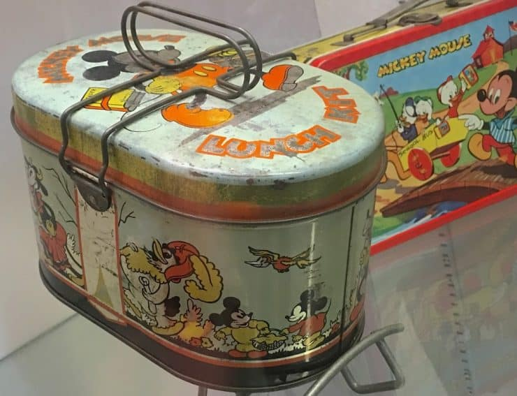 Mickey Mouse was one of the first figures to grace a lunch box in 1935.