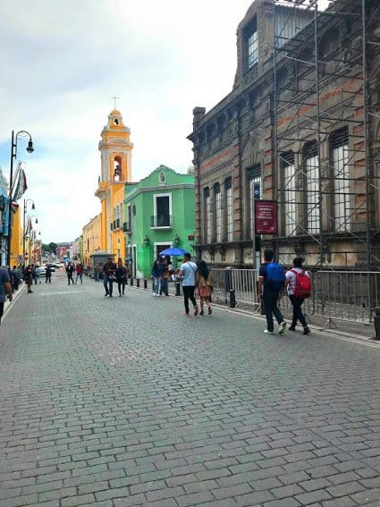Puebla City street. GoNOMAD.com Travel Mexico