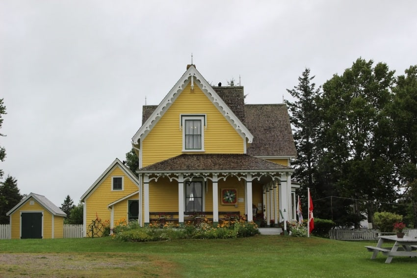 The residence of Lucy Maud Montgomery, Anne of Green Gables author, in Bideford PEI.