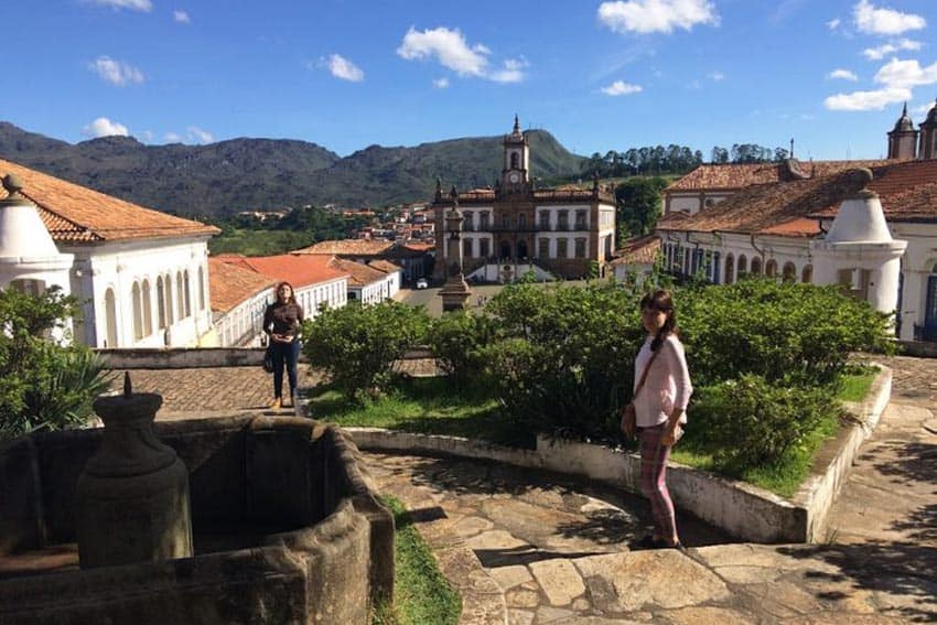 The view from the Mineralogy Museum of Ouro Preto, overlooking the Tiradentes Plaza. Maria Myers photos.