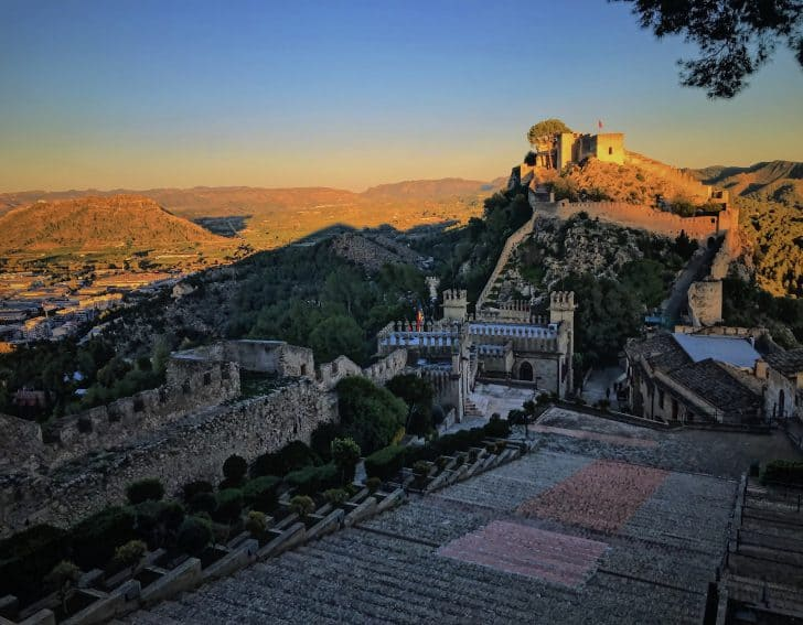 Experiencing Xàtiva Castle at sunset is worth the hike up. Photo by Olivia Gilmore