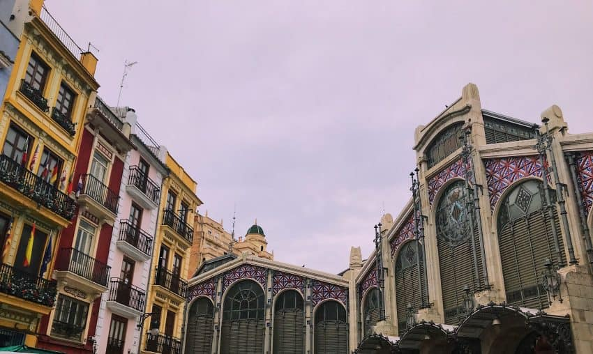 The impressive architecture outside one of the oldest markets still used in Europe, Mercat Central in Valencia City. Photo by Olivia Gilmore.