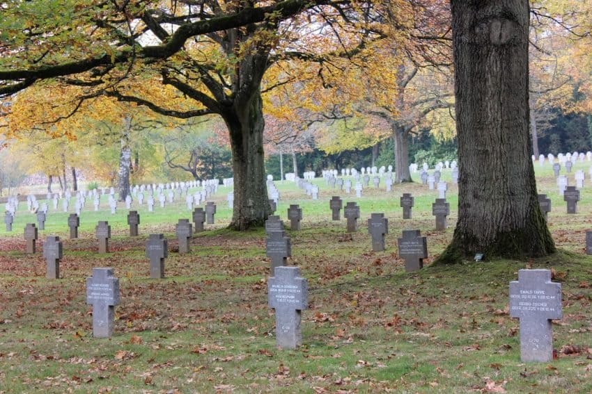 The German cemetery one mile from the American cemetery in Luxembourg.