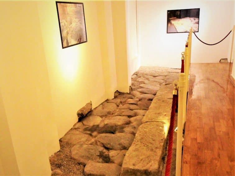 The grooves etched by 1st-century chariots are unearthed inside the historic Majestic Hotel.