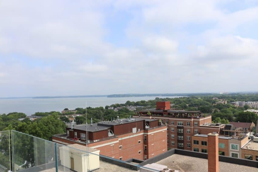 Madison Wisconsin Rooftop view