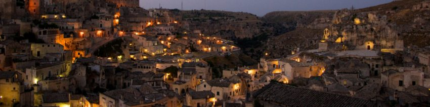 Matera at night.