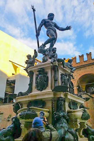 The newly restored Fountain of Neptune is not shy about its grandeur.