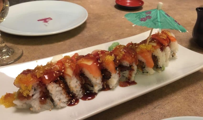Specialty roll at Kyoto