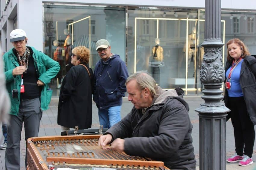 Zither player Bonn Germany