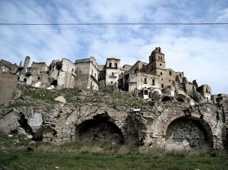 Craco, an abandoned hilltop ghost town.