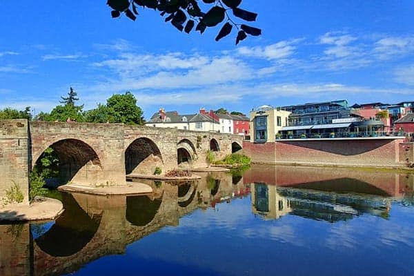 Hereford and the Wye Valley in Central England