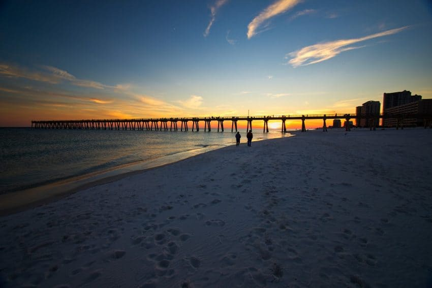 Navarre Pier sunset.