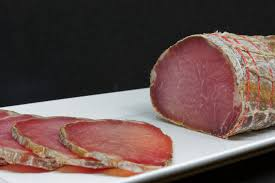 Lonzu, a lean meat a bit like smoked salami unique to Corsica.