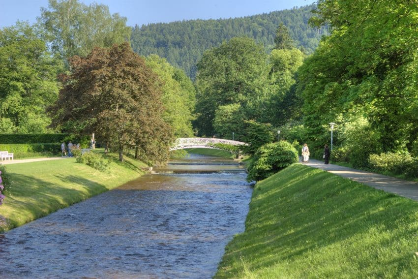The river Oos winds its way through the spa town of Baden-Baden in central Germany. All photos Copyright: © Baden-Baden Kur & Tourismus GmbH
