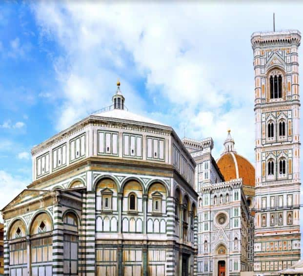 The exterior of the Duomo in Florence.