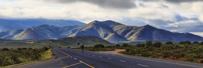 Route 62, Cradock, South Africa. it stretches to the horizon and beyond. Cindy-Lou Dale photos.