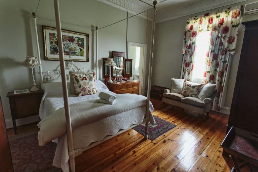 My gorgeous bedroom in one of the Tuisehuise, one of the 30-odd artisan cottages adjoining the Victoria Manor Hotel.