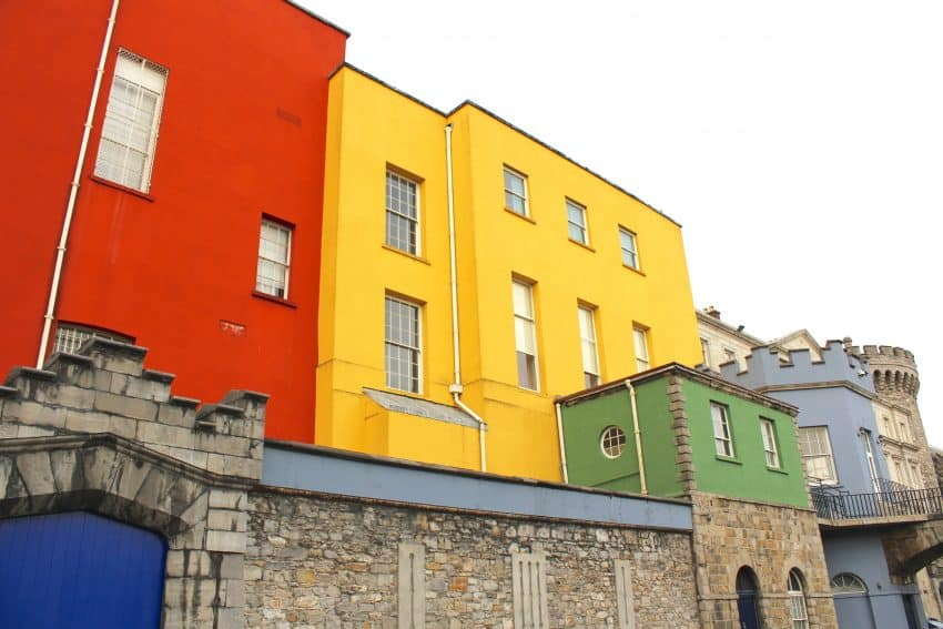 An array of bright colors in the streets of Dublin.
