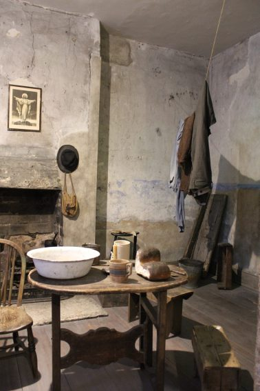 A recreation of the basement room made from real photographs at 14 Henrietta Street.