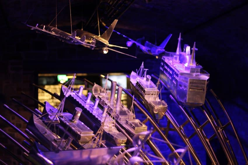 An exhibit of the transformation of ships at Epic.