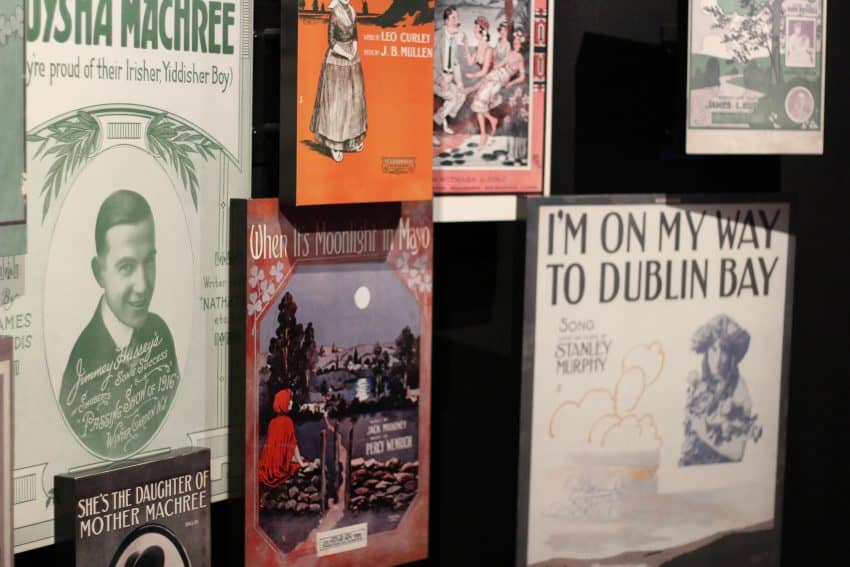 A nod to Dublin's musical history at the Epic Museum.