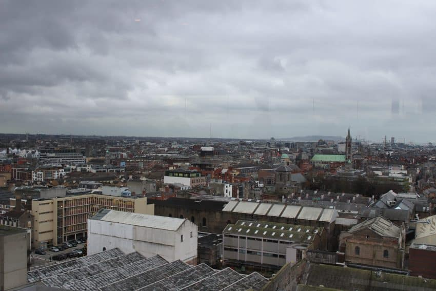 View of the city from Guinness Storehouse.