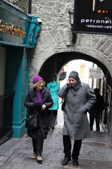 Antoinette and Stephen enjoying their time strolling through the allies of Kilkenny.