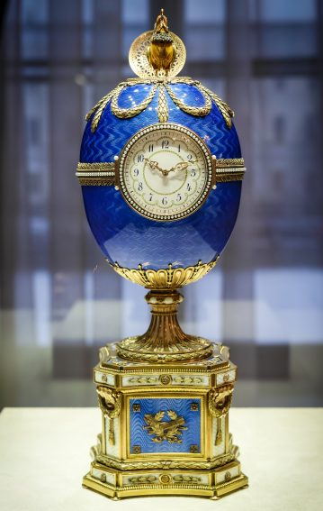A priceless Faberge egg on display in Baden-Baden, Germany.
