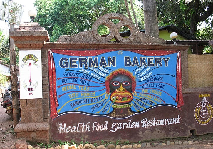 German Bakery, Anjuna, Goa, India (Photo by Susan McKee)