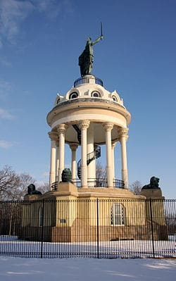The Hermann Heights Monument is a statue erected in New Ulm, Minnesota.