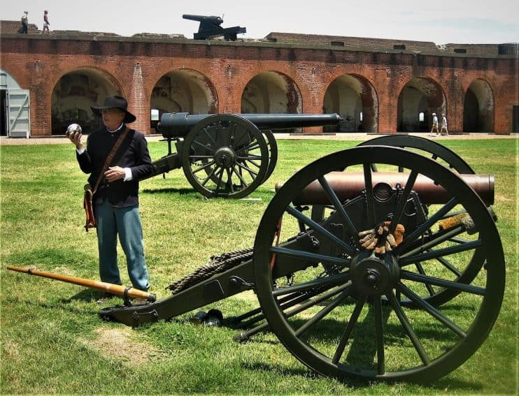 Artillery Demo at Ft. Pulaski, Savannah GA