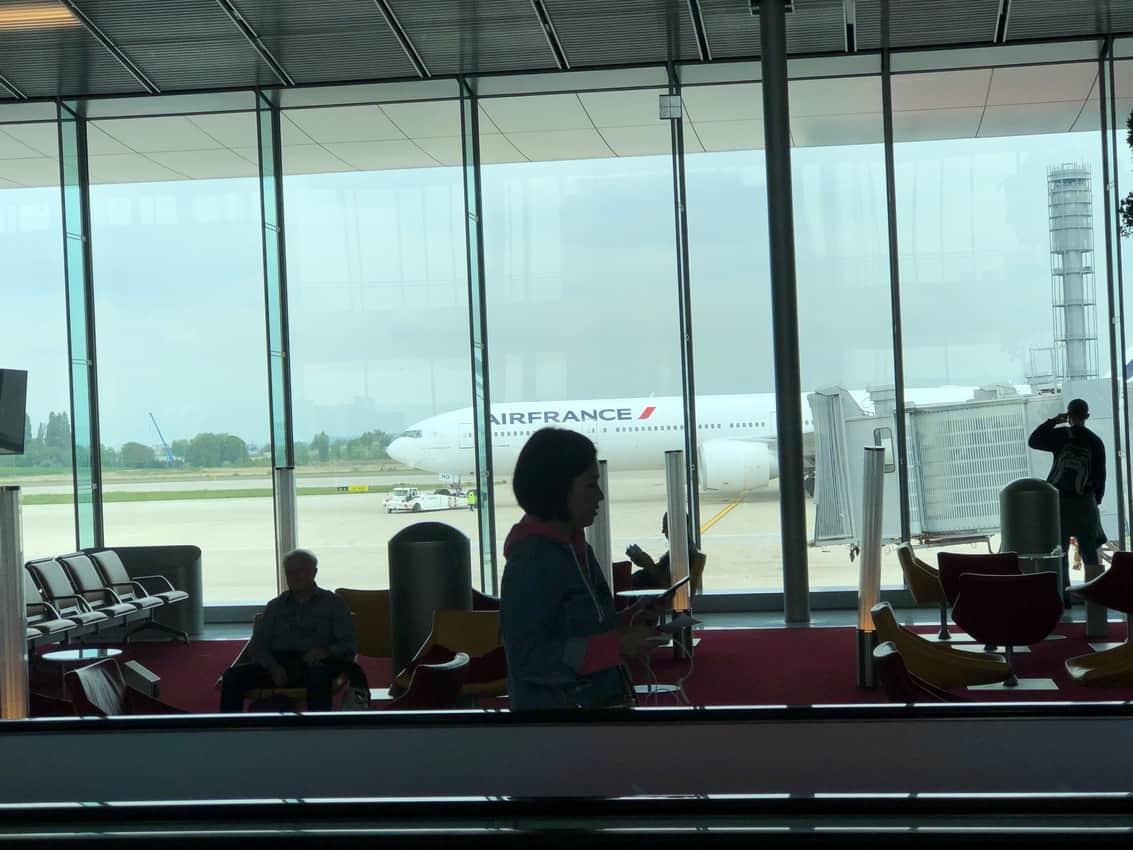 Paris Charles de Gaulle airport.