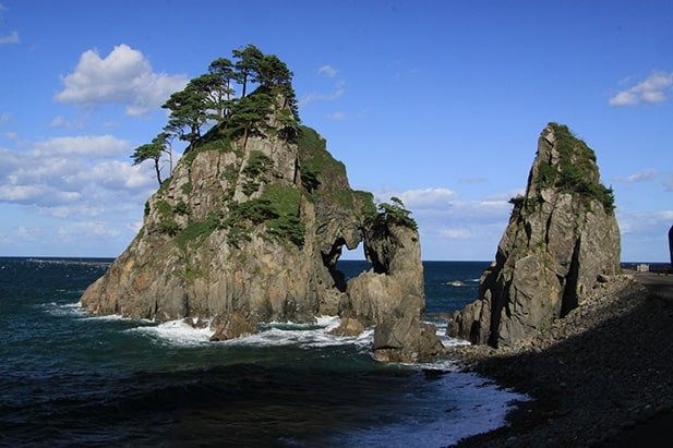 Iwate Prefecture's coast. Courtesy of Iwate Prefecture