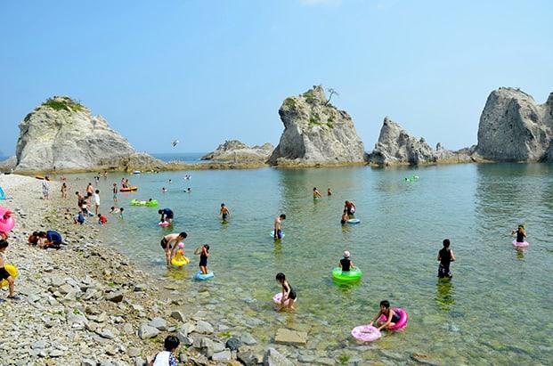 Jodogahama Beach. Iwate Prefecture of Japan photo