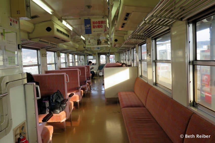 Sanriku Railway interior. Beth Reiber photo