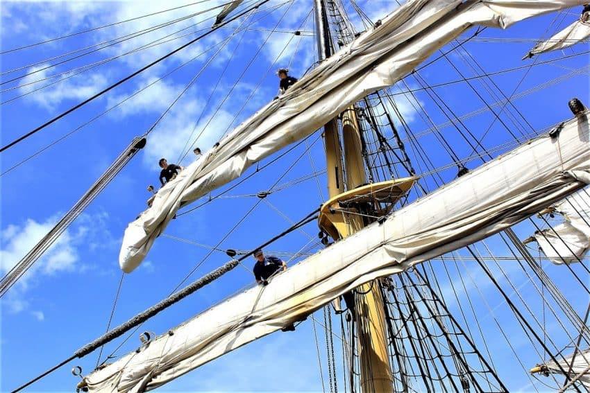 Crew on Tall ship in 2014 in Savannah.