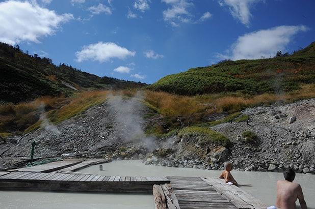 Toshigi Onsen, the highest onsen in Tohoku, near Mt. Hachimantai's peak. Courtesy of Iwate Prefecture
