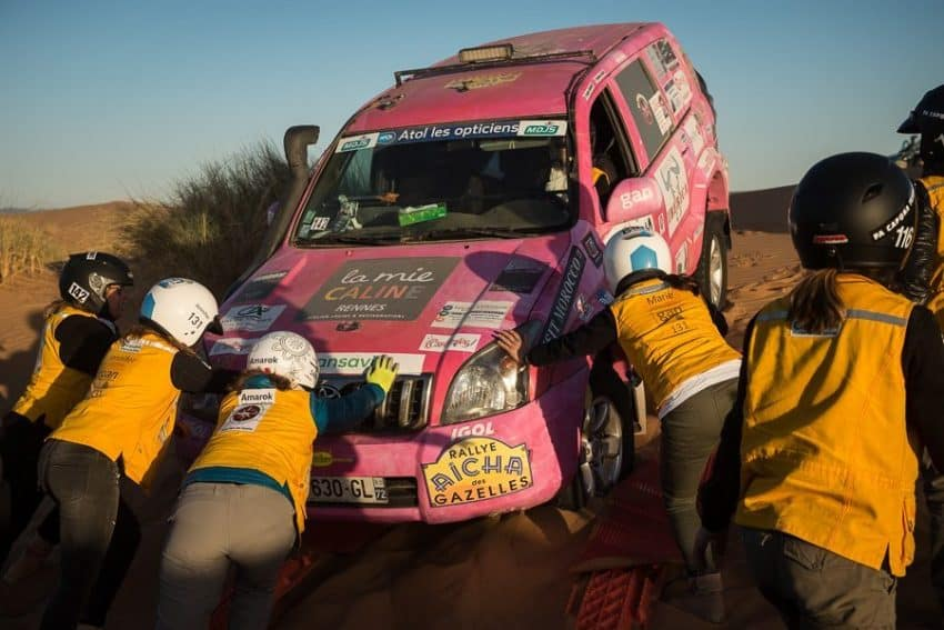 Women from over 30 countries have come to Morocco for the yearly rally since 1990. Photos taken form rallyeaichadesgazelles.