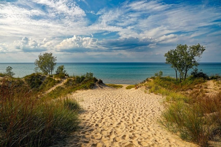 The newest U.S. national park includes the shoreline of Lake Michigan.