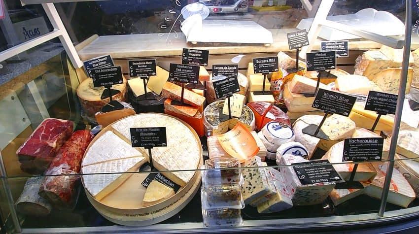 Cheesemonger in Ludlow, Shropshire, England