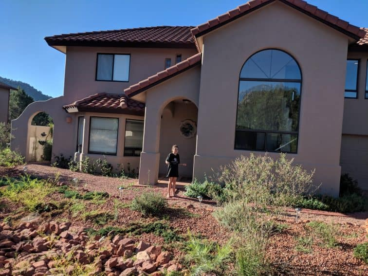Erysse Elliott in front of our Sedona, Ariz., vacation rental. It was one of our better rentals of 2018 -- except for the wild ending.