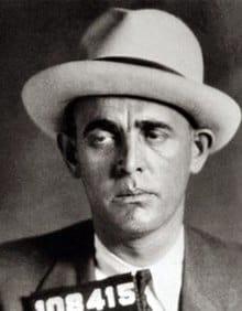 """Jack 'Legs"""" Diamond, famous bootlegger from Albany, in his mug shot."""