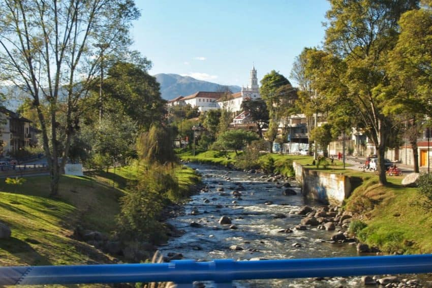 Cuenca, Ecuador, is blessed with a great climate and a nice trout fishing stream that runs through the college town.