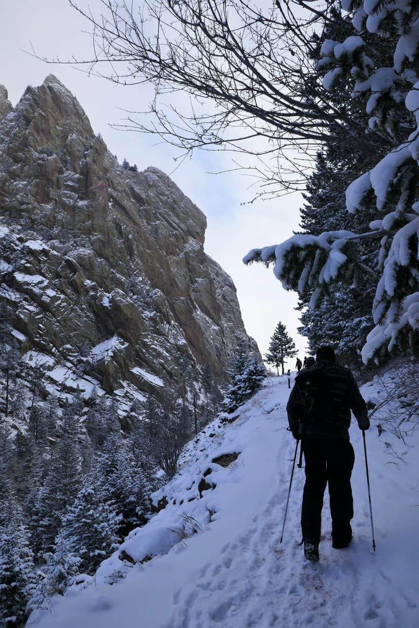 Eldorado Canyon State Park has trails for hikers all year long!