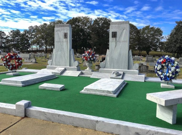 Hank and Audrey's grave sites