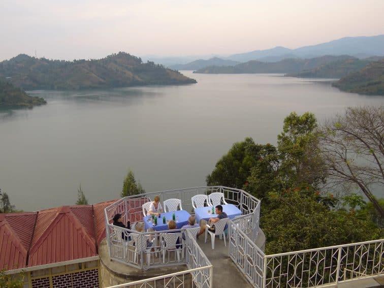 View over Lake Kivu from Karongi-Kibuye in Western Rwanda