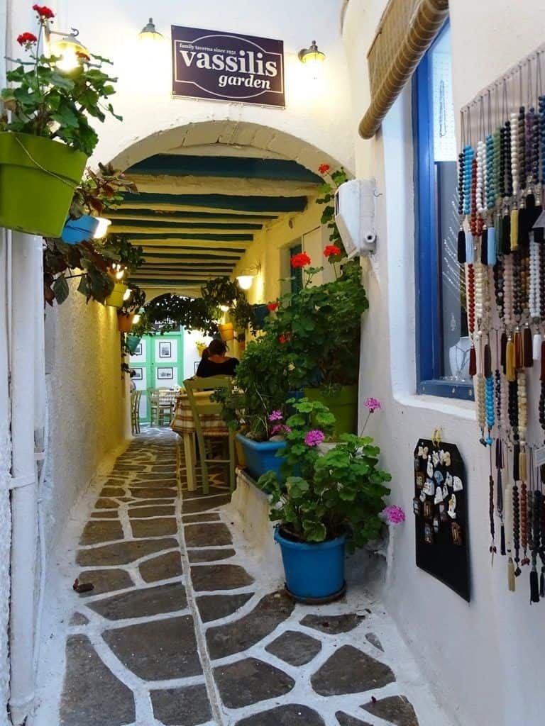 An alleyway on Naxos, Greece.