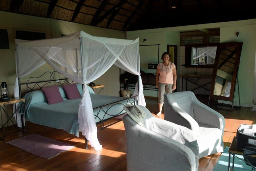 No roughing it in this tented camp in Tanzania.