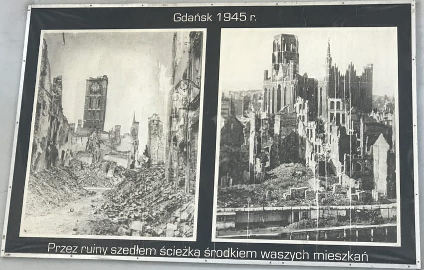 Photos of the bombing devastation of Gdansk during World War II.