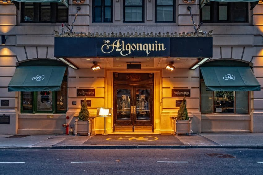 The Algonquin Hotel in New York City